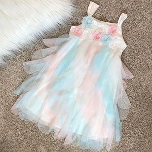 Biscotti girls size 6 pastel petal dress
